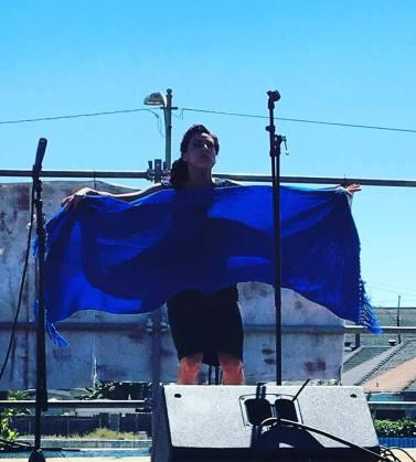 Vanessa performs at Xicana Moratorium