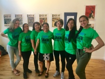 Vanessa Sanchez with participants of Baile Colectivo, a dance & wellness program in collaboration with La Colectiva and Dance Mission Theater