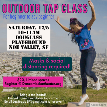 One time Outdoor Tap class Dec